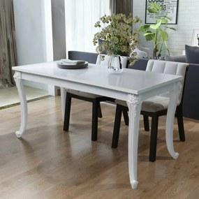 Eettafel 116x66x76 cm hoogglans wit