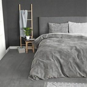 Sleeptime Elegance Two Toned - Grijs - Flanel 1-persoons (140 x 200/220 cm + 1 kussensloop) Dekbedovertrek