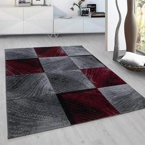 Vloerkleed - Square - Rechthoek - Rood Plus Ruiten 80 x 150 cm - Ga naar Dekbed-Discounter.nl & Profiteer Nu