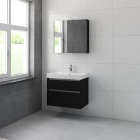 Pinto meubelset spiegelkast 75cm zijdezwart