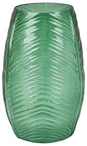 Vaas ribbel lang - groen - 20 cm