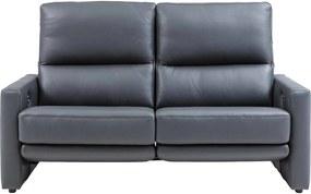 Goossens Excellent Bank Concept Pluss Met Relaxfunctie donkergrijs, leer, 2,5-zits, stijlvol landelijk