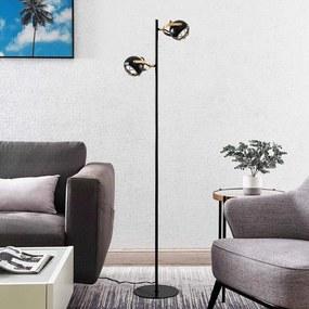 Dawid LED vloerlamp in goud - lampen-24