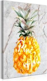 Schilderij - Pineapple en Marmer