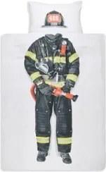 Snurk Brandweerman kinderdekbedovertrekset van katoen perkal 160TC - inclusief kussenslopen