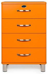 Tenzo Malibu Houten Ladekast Oranje - 60x41x92cm.