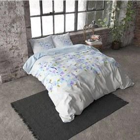 DreamHouse Bedding Sweet Flowers - Verwarmend Flanel - Blauw 1-persoons (140 x 200/220 cm + 1 kussensloop)