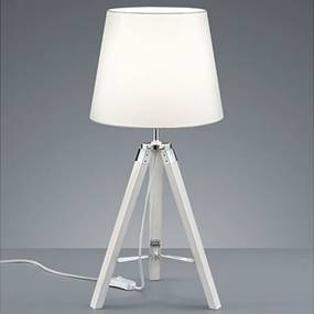 Reality Tafellamp Tripod - Hout - Wit