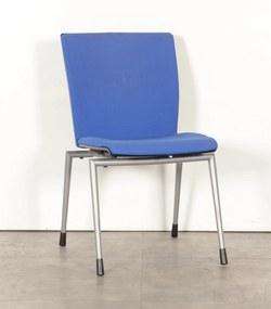 Vergaderstoel 330, blauw, 4-poot onderstel
