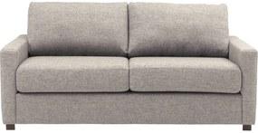 Goossens Bank Lucca Arm Smal grijs, stof, 2-zits, stijlvol landelijk