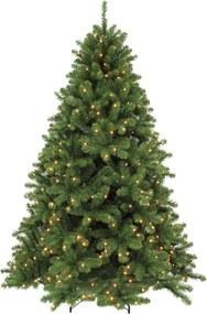 Scandia kunstkerstboom donkergroen LED d124 h185 cm