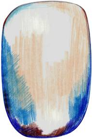 Moooi Carpets - Carpet Moooi Sribble Blue/Beige - 300 x 200 - Vloerkleed