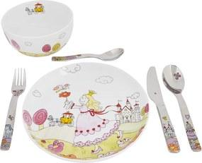 WMF Prinses Anneli kinderservies- en bestekset 6-delig