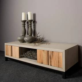 Tower Living TV-meubel Eiken En Beton 145 Max - 145x45x40cm.