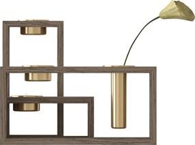 UMAGE Compose - Houten kandelaar - Set van 3- Kaarshouder - Design - Vaas