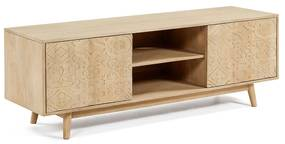 Kave Home Seleb Massief Mangohouten Tv-meubel - 160x45x56cm.