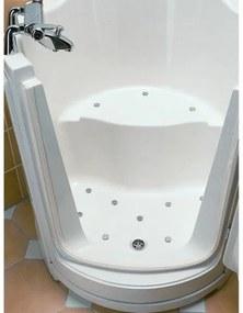 Nemo Spring Ibiza zitbad wandmodel acryl wit frontdeur rechts 1000 x 920 mm voorpaneel en zijpaneel afvoer en overloopset exclusief kraanwerk sku 121652 121643