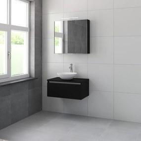 Giro meubelset spiegelkast 75cm zijdezwart