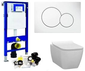 Geberit UP320 Toiletset set34 Idevit Halley Vierkant Randloos 36x52x30cm met Sigma drukplaat