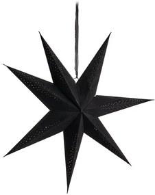 Kerstster velvet met led - zwart - 60 cm