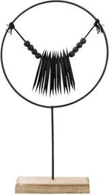 Ornament Nathan - zwart - 36x20x8 cm - Leen Bakker