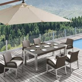 Higold Excellent Outdoor | Diningset Juno (7-delig) tuinstoel: breedte 52 cm x diepte 64 cm x hoogte 84 bruin outdoor sets | NADUVI outlet