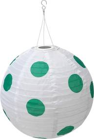 SOLVINDEN Led-plafondlamp op zonnecellen buiten globe/gestippeld groen