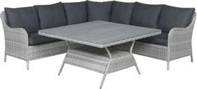 Garden Impressions Denia lounge dining set 4-delig - licht grijs
