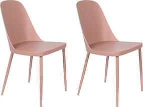 Kantinestoel Pip - Set van 2 stoelen - Roze
