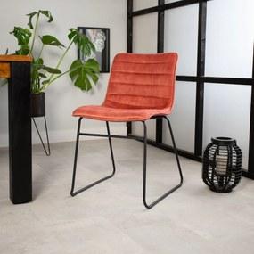 Dimehouse | Eetkamerstoel Vienna - totaal: breedte 49 cm x diepte 54 cm x hoogte roze eetkamerstoelen velvet, metaal meubels | NADUVI outlet