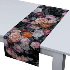 Rechthoekige tafelloper, grijs-roze