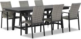 Lifestyle Upton/General 217/277 cm dining tuinset 7-delig stapelbaar