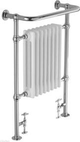 Traditional handdoekradiator 98x68cm 750W Chroom