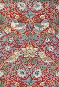 Morris & Co - Strawberry Thief 027700 Crimson - 250 x 350 - Vloerkleed