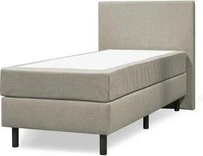Boxspring 1-pers. 90 x 200 cm compleet | Verende box | stof Inari beige 22 | Vlak hoofdbord