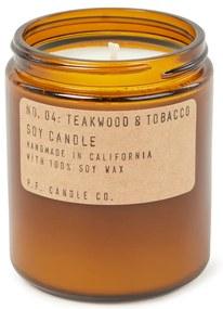 P. F. Candle Co. No- 04 Teakwood & Tobacco geurkaars