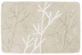 Badmat Differnz Leaf Antislip 60x90 cm Microfiber Beige