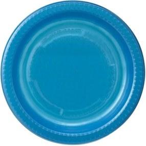 Plastic Borden - 17.5 Cm - Blauw - 10 Stuks (blauw)