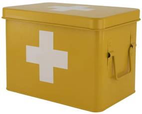 Medicijnbox 15.5x22.5x16 Okergeel