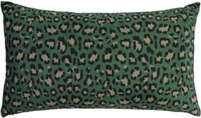 Kussen groen dierenprint