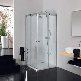 Huppe Vista Pure douchecabine vierhoekig met 2 schuifdeuren 120/80x200cm chroom profiel en helder glas VT0555C91321