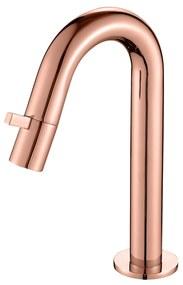 Toiletkraan Best Design Lyon 1-draaiknop Gebogen 21 cm Mat Rose Goud