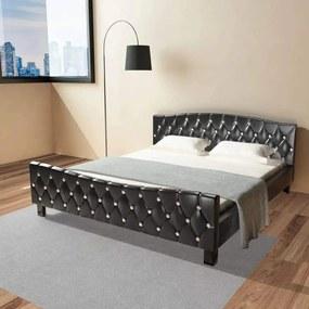Medina Bedframe kunstleer 180x200 cm zwart