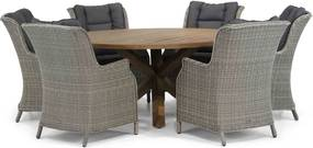 Garden Collections Aberdeen/Sand City 160 cm rond dining tuinset 7-delig