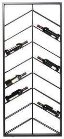 Kare Design Bistro Double Zwart Wijnrek Van Metaal - 70x6x160cm.