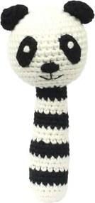 Rammelaar pandabeer zwart wit - Rammelaar