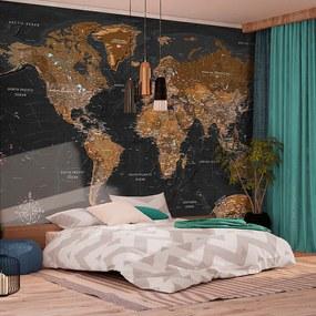Fotobehang - Wereldkaart stijlvol