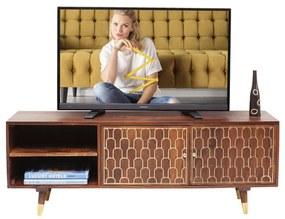 Kare Design Muskat Mangohouten Tv-meubel - 140x35x50cm.