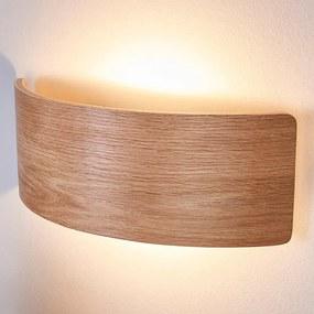Aantrekkelijke houten wandlamp Rafailia met LEDs - lampen-24