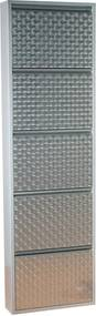 Kare Design Caruso Hoge Schoenenkast Zilver 5 - 50x14x170cm.
